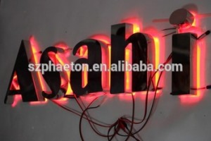Stainless steel led backlit metal letters and numbers