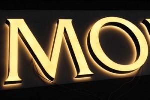 China Manufacturer Custom Advertising front and black-lit Acrylic LED letters
