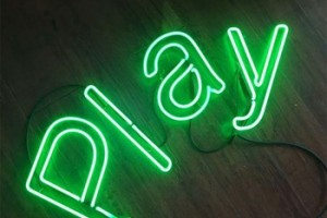 Good Price Custom Green Color Neon Letter Sign LED Light Glass Tube Sign