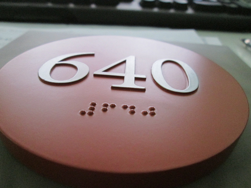 Building Apartment Door Room Wall ID Ada Compliant Braille Signage