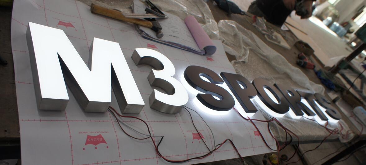 Fabricated Backlit Illuminated Acrylic Steel Halo LED Channel Letters