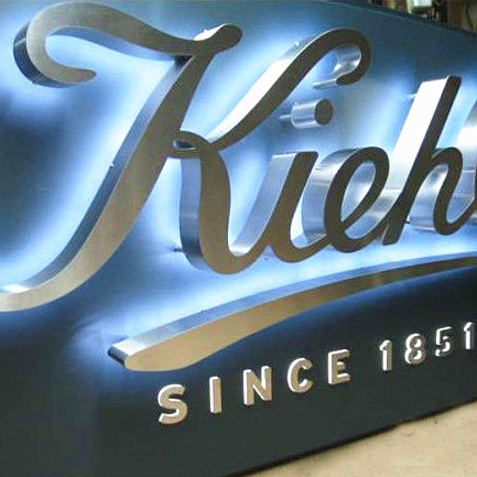 Internally Illuminated Logo Sign Cut Out And White