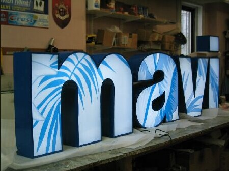 3D LED Lighting Vinyl Letters for Signs