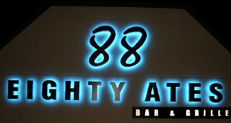 LED Reverse Lit Channel Letters Signs with Lights Outdoor Business Signs