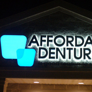 Opaque Face, Reverse Channel Letters with Acrylic Inserts, Edge-Lit Sign