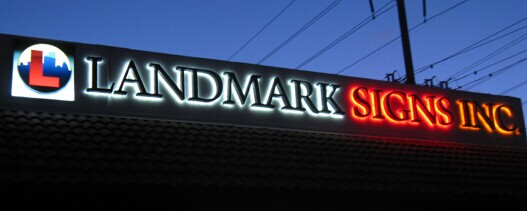 Halo Lit LED Illuminated Vinyl Letters for Signs Reverse Channel Letters