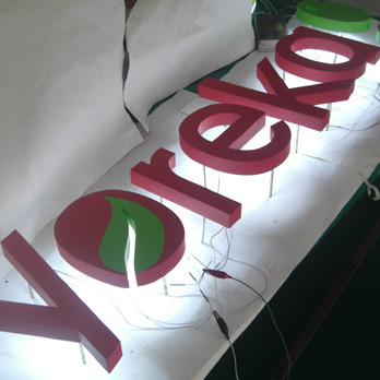Most Popular LED Shop Sign Board Reverse Channel Letters Illuminated Exit Sign