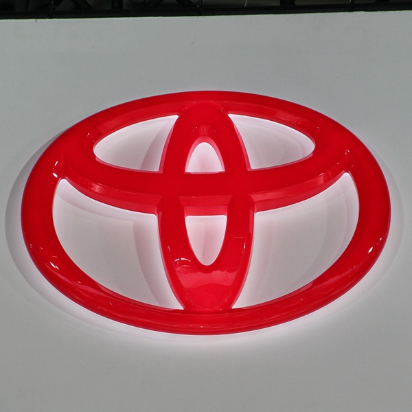 Red Plastic Thermoforming Advertising LED Car Sign