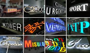 Premier Channel Letter Sign Stainless Steel Backlit Sign