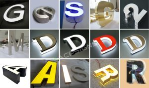 full lighted 3D plastic led advertising letter sign lighting