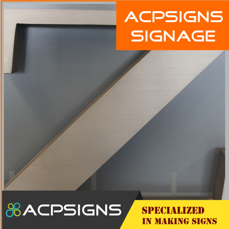 Outdoor Advertising Brushed Stainless Steel Letters