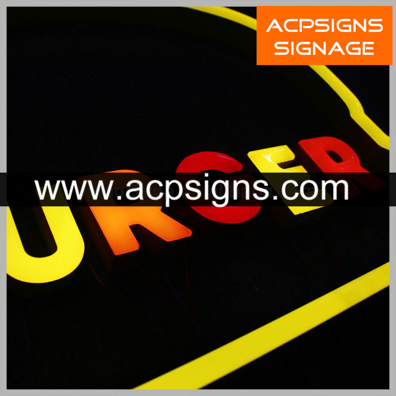 Colorful Front Lit Acrylic Letters Making Sign