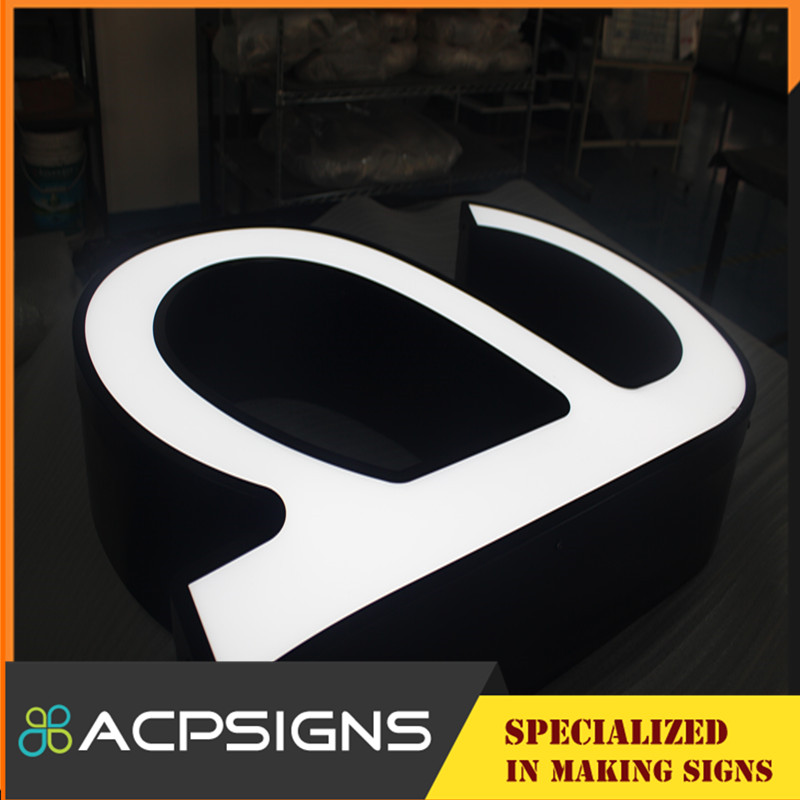 Well Design Face Illuminated Sign Letters