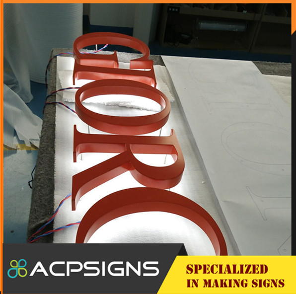 Outdoor Advertising Back Light Metal Letter Signs