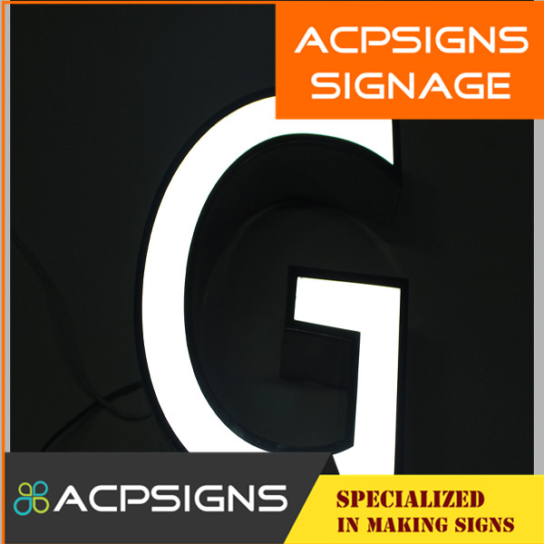 Stainless Steel Side LED Fabricated Letters and Logos
