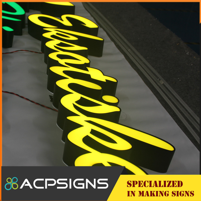 High Luminance Outdoor Advertising Front Lit LED Letters