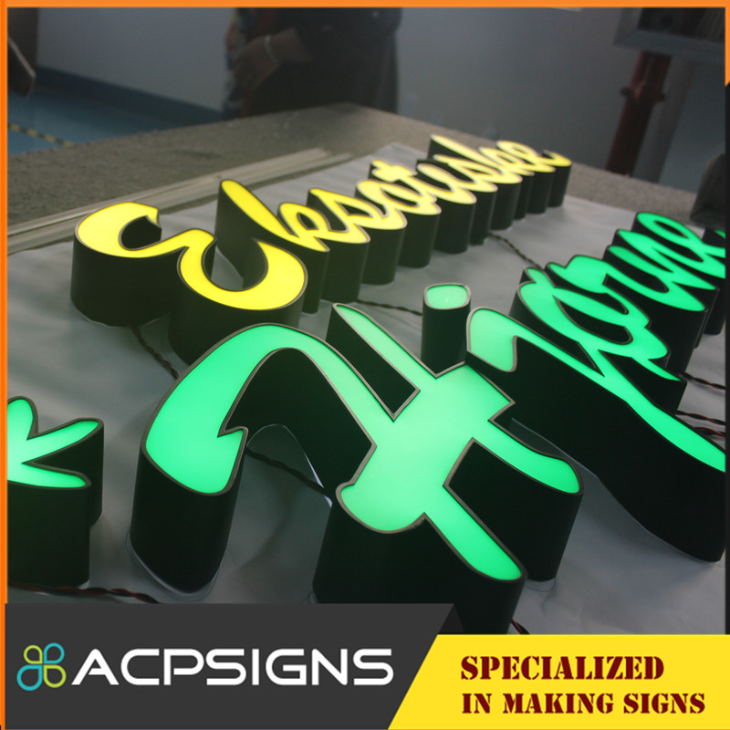 Outdoor Acrylic Front Lit LED Light 3D Channel Letter