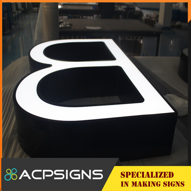 Outdoor Waterproof High Brightness Face Acrylic Letter