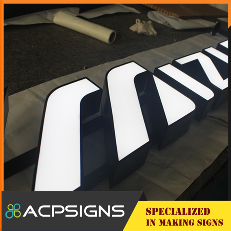 Front Lit LED Side Stainless Steel Channel Letter