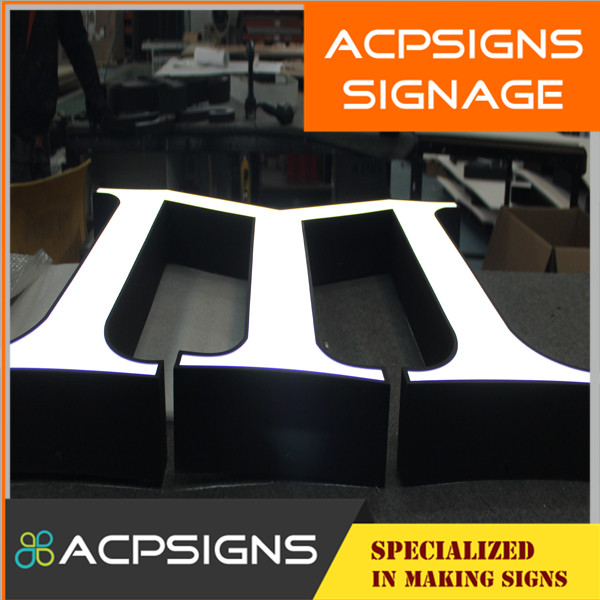 2015 Hot Sale Front-Lit Acrylic LED Sign Channel Letters