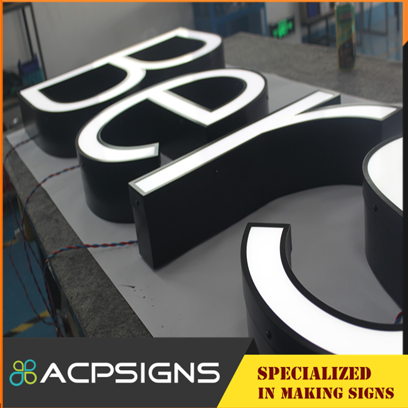 Front Light Eye-Catching Alphabet Letter with Face Acrylic