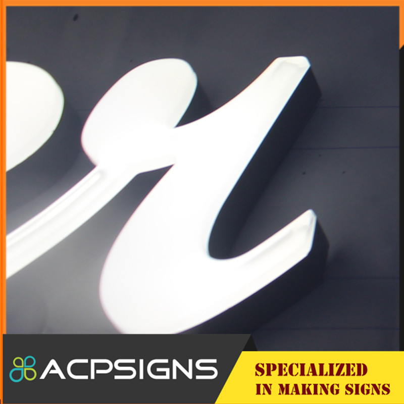 2015 Latest Design Resin Light up Letters for Sign