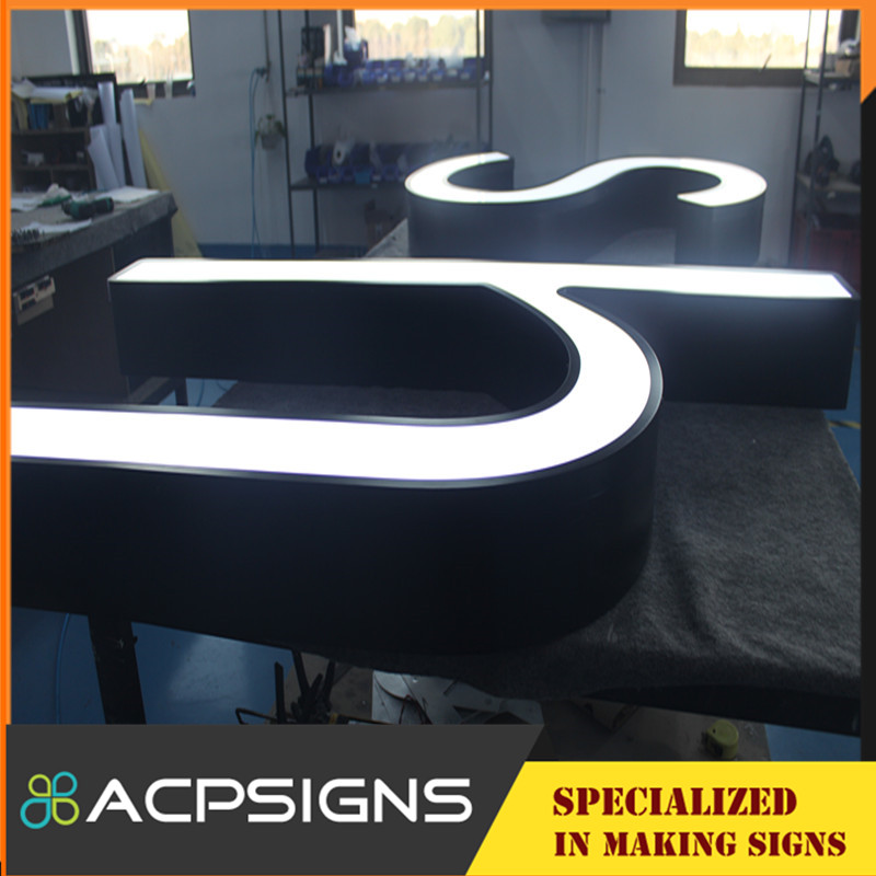 Front Lighting Alphabet Letter with Face PMMA