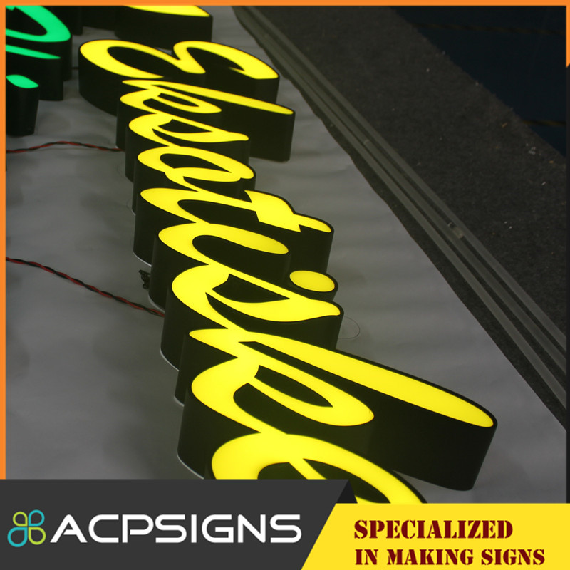 Back Lighted LED Signage with Colorful Visible