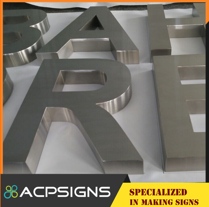 Fabricated Polished Steel Letter Stainless Steel Letter Sign