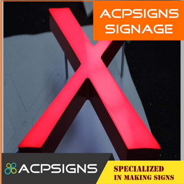 Bright Acrylic LED Advertising Light Box Letters