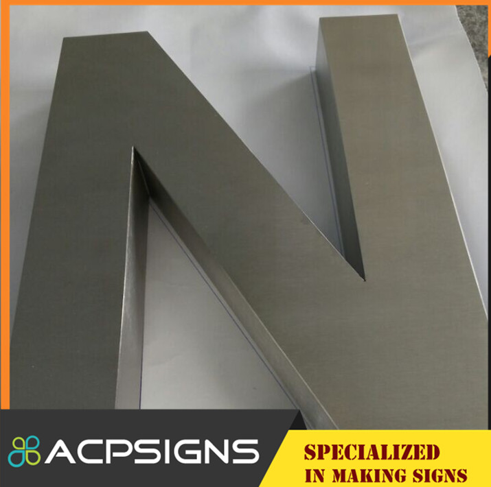 CE UL RoHS Approved Brass Letters Signages