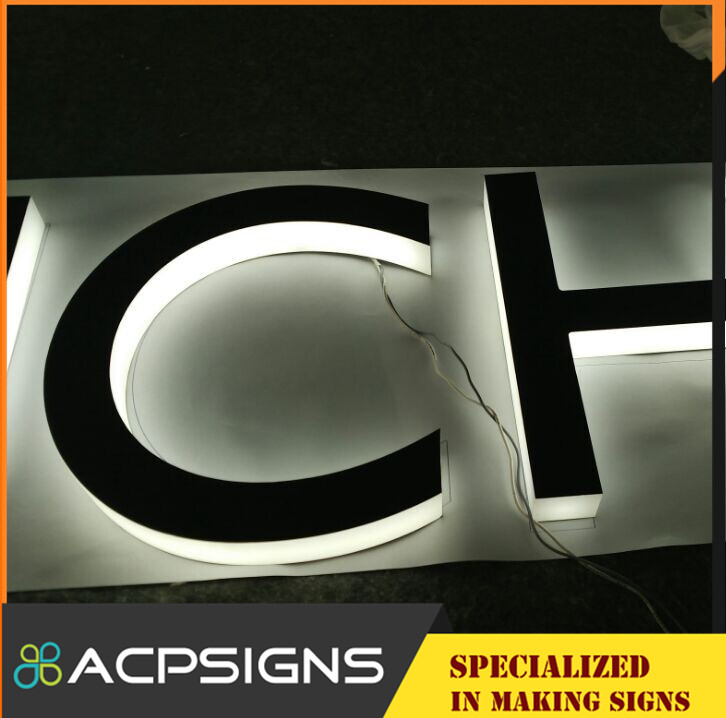 Backlighted Beautiful Logo for Decoration