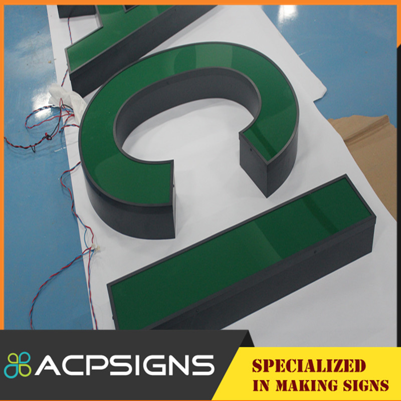 Beautiful Acrylic Frontlit 3D Plastic Letters Store Signs