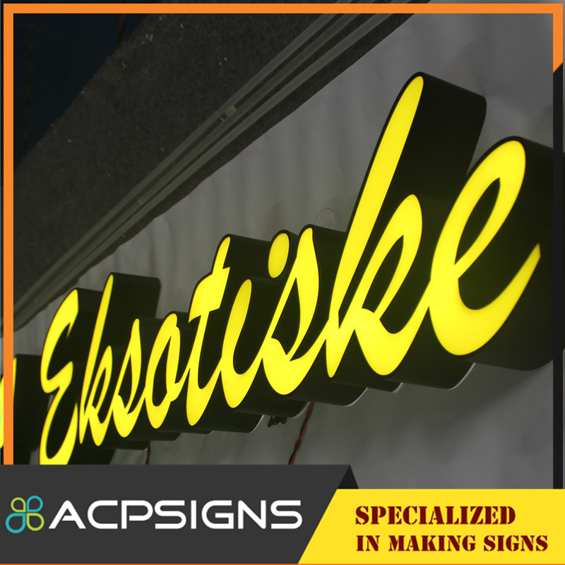 Frontlit LED Acrylic Sign Letter Outdoor Board | ACPSIGNS