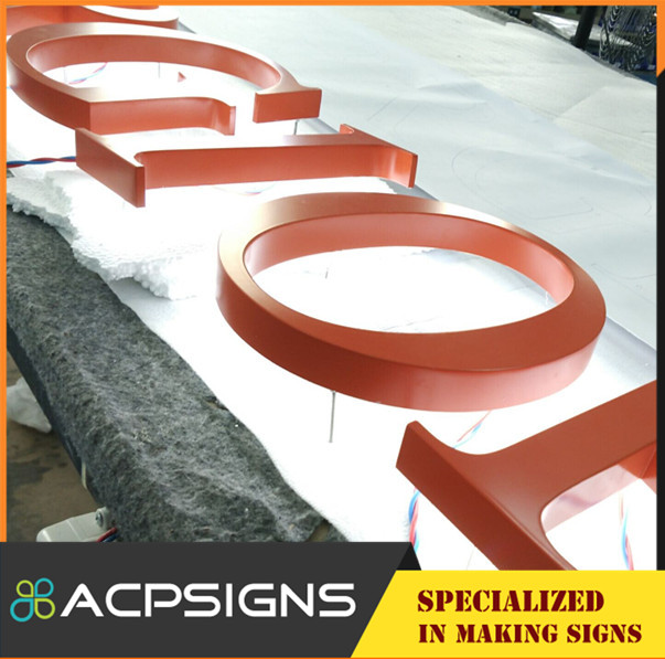 Acrylic Base Stainless Steel 3D Decorate Letters