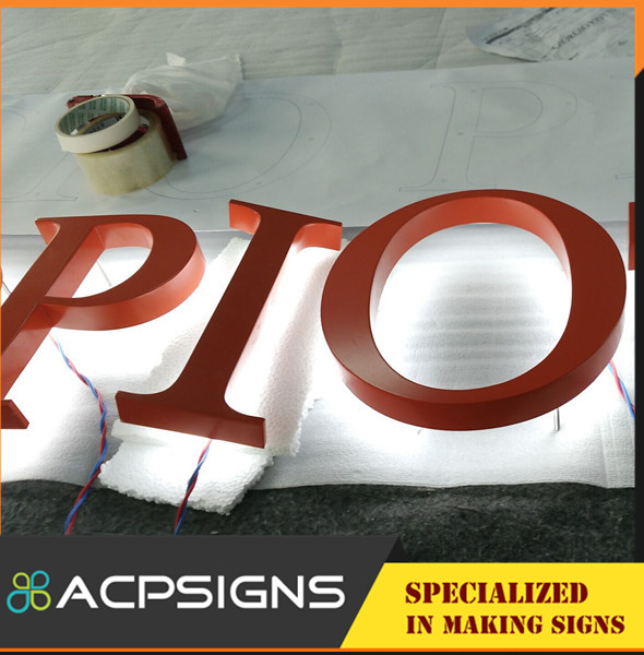High End Backlit Letter Sign