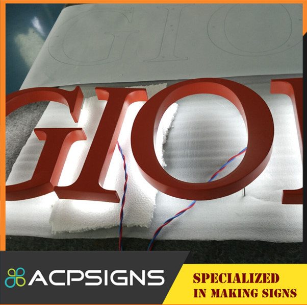 Brand Name Outdoor Halolit LED Channel Letter