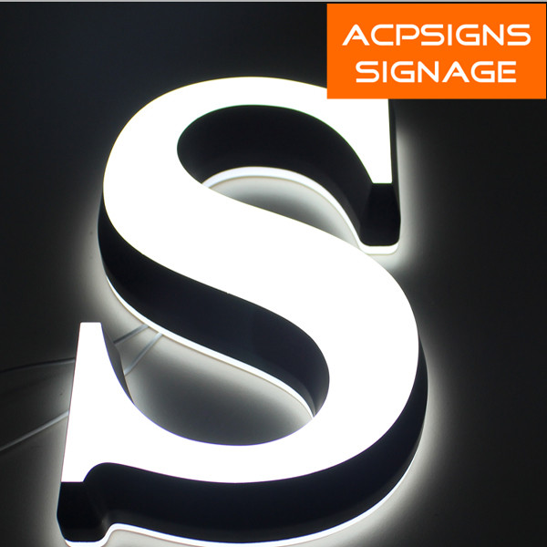 Mini Acrylic Back and Frontlit LED Sign Letter