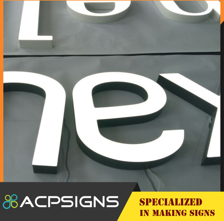 Mini Acrylic LED Advertising Frontlit and Backlit Sign Letters