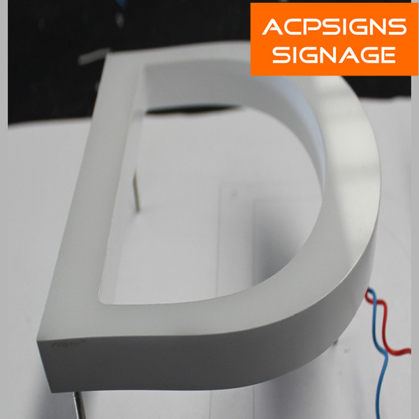 Frontlit LED Acrylic Sign Letter Outdoor
