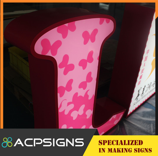 Hight Bright Ss Acrylic Light up Letter Signs Lettter