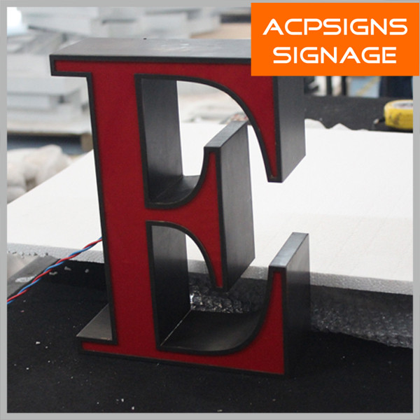 Front Lit Warm White Channel Letter with LED Lighting