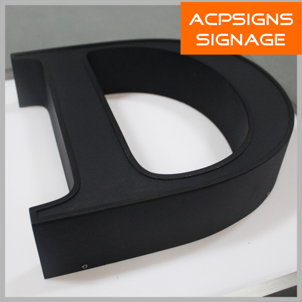 Acrylic Decorative Alphabet Letters Sign with Trim Cap