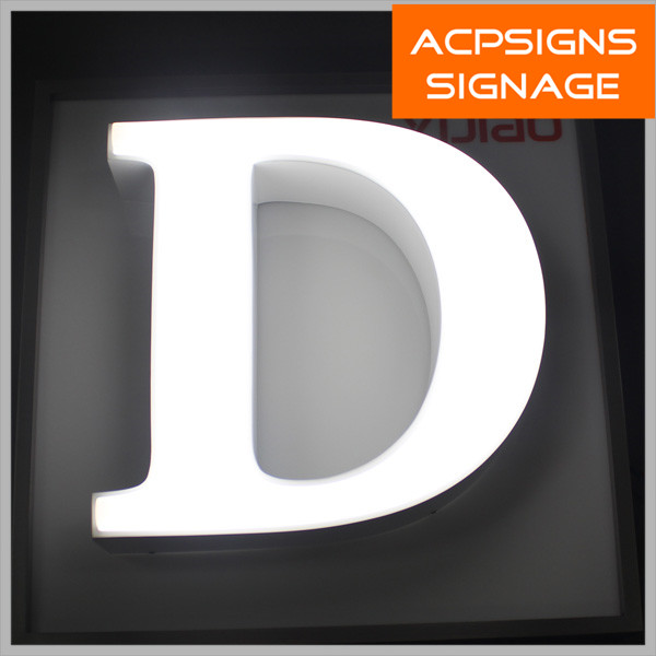 Acrylic Face Stainless Steel Side LED Letters to Make Signs