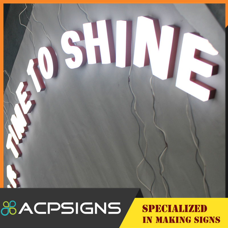 Pop Acrylic LED Light Letter Sign From Shanghai Factory