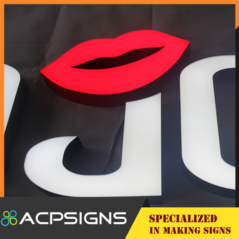 Outdoor Wall Display Resin 3D LED Letter