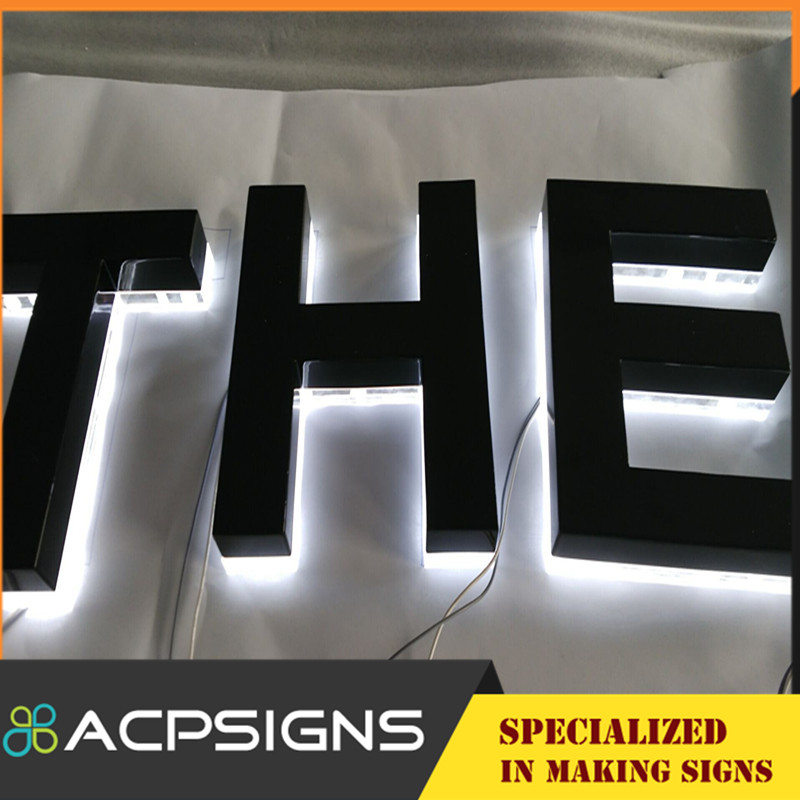 Acrylic Stainless Steel 3D Decorate Letters