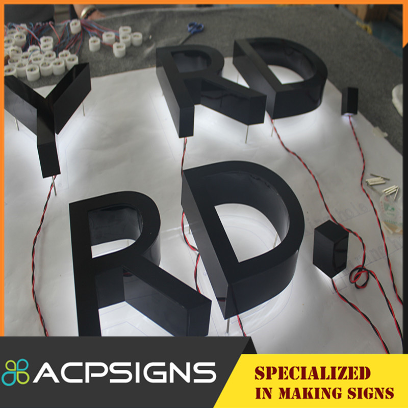 LED Good Quality Light Letters with Back Lighting 3D Waterproof Logo