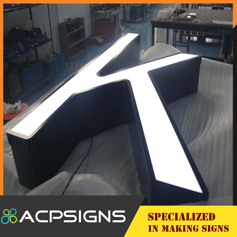 LED Lighted Acrylic Channel Front Lit Letter
