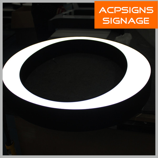 Face Lighted Stainless Steel Retun Frontlit LED Channel Letter Sign